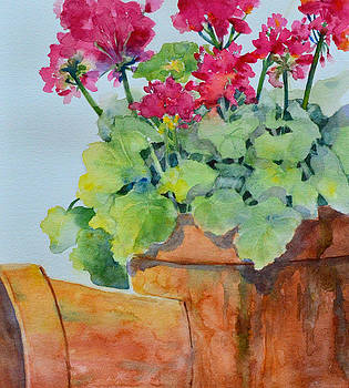 Flowers and Clay Pots by Cynthia Roudebush