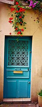 Flowers and Door by Paris Color