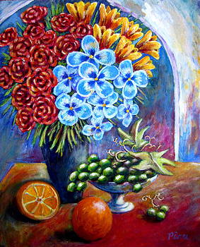 Flowers and Fruit  by Sebastian Pierre