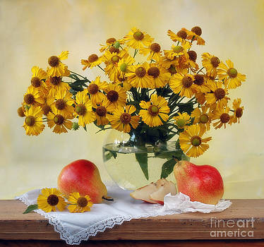 Flowers and pears by Irina No