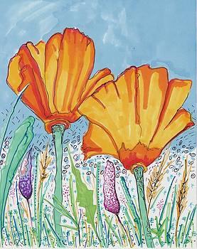 Flowers and the sky by Rosalina Bojadschijew