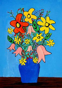 Bishopston Fine Art - Flowers in a Blue Vase