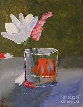 Flowers in a Glass by Tanja Beaver