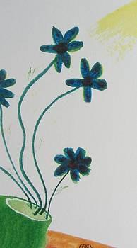 Flowers in a Jade Vase by Debbie Nester