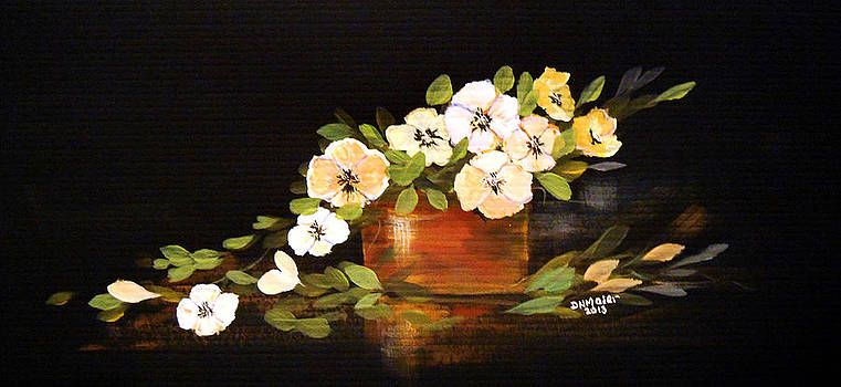 Flowers in a Teracota Vase by Dorothy Maier