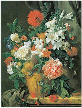Jan Van Huysum - Flowers in a terra Cotta Vase