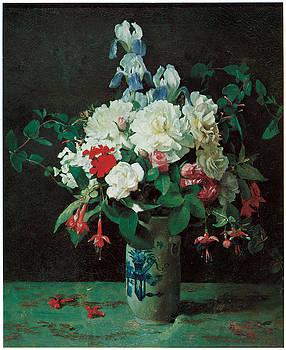 George Cochran Lambdin - Flowers in a Vase