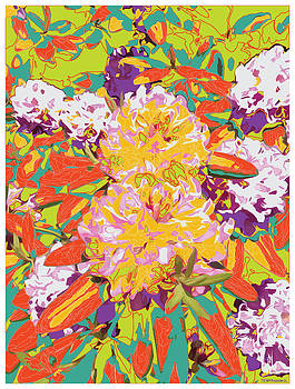 Flowers in Abstract 3 by Ed Hernandez