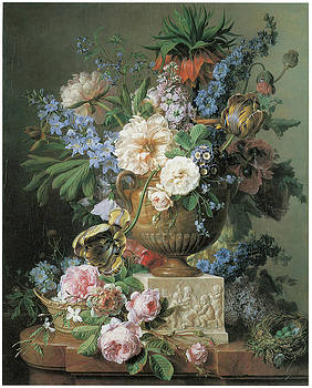Gerard Van Spaendonck - Flowers in an Alabaster Vase