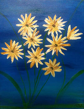 Flowers in Blue by Toni  Di Nuzzo