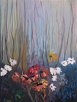 Flowers in forest by Andrea Kucza