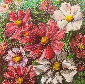 Flowers in the garden by Nina Mitkova