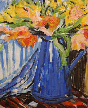 Flowers in vase by Andrea Kucza