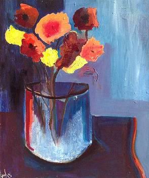 Flowers in Vase by Kendall Wishnick Adams
