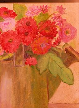 Anne-Elizabeth Whiteway - Flowers in Watering Can