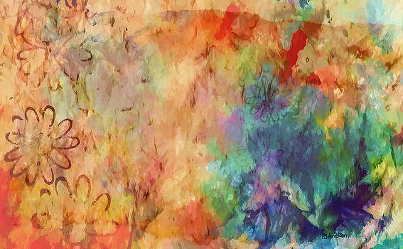 Flowers on Canvas by Peggy Gabrielson