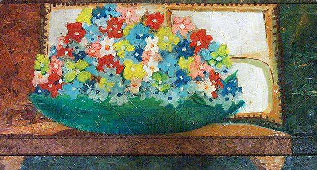 DENNY CASTO - Flowers on wood