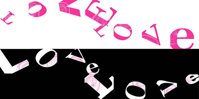 Flowing Love with Pink and Black by Joel Dynn Ingel Rabina