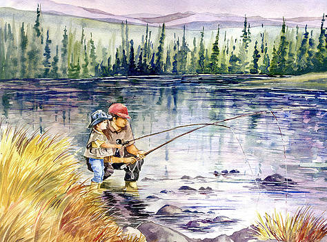 Fly Fishing with Dad by Beth Kantor