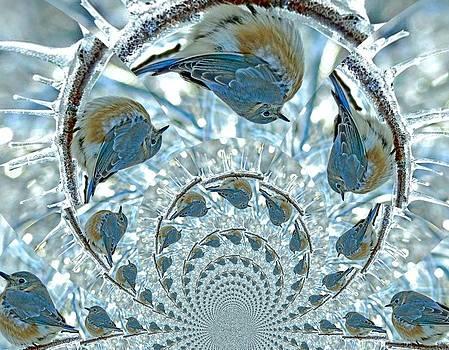 Fly South Blue Birds by Linda Gonzalez