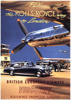 Fly the Rolls Royce Way to London by Vintage