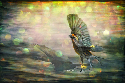 Fly to Freedom Spring Finch by Angela A Stanton