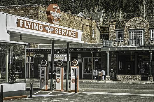 Flying A Service Station by Sherri Meyer