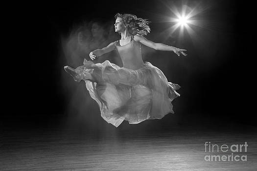 Cindy Singleton - Flying Ballerina in Black and White