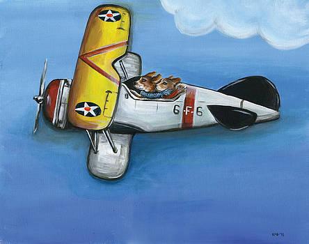 Flying Beagles by Kim Arre-gerber