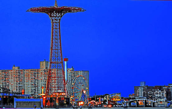 Flying High In Coney Island by Kendall Eutemey
