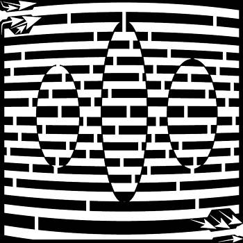 Flying Ovals Maze  by Yonatan Frimer Maze Artist
