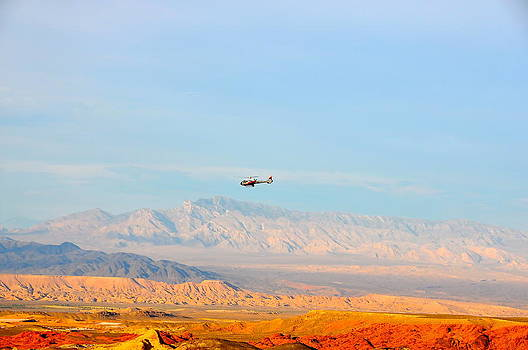 Flying over Valley of Fire by Amanda Miles