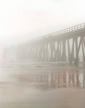 Fog at the end of the pier  by Sammy Miller