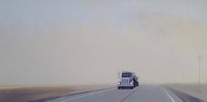 Fog On Rt.150 by Jeffrey Bess