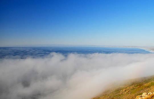 Fog Over Point Reyes Lighthouse by Mischelle Lorenzen