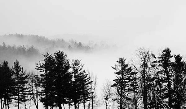 Fog Rolling Over Ice New Hampshire by Andrea Borden