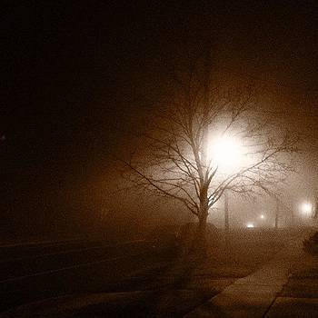 #fog #sepia #gloomy #trees #road by A Loving