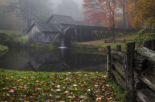 Foggy Autumn Evening by Greg Dollyhite