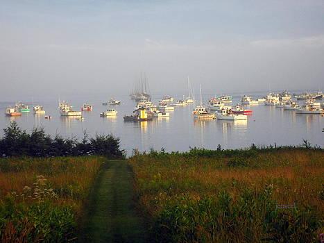 Foggy boat scenery Lubec by Jen Seel