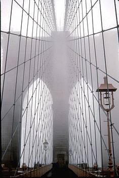 Foggy Brooklyn Bridge by Archie Reyes
