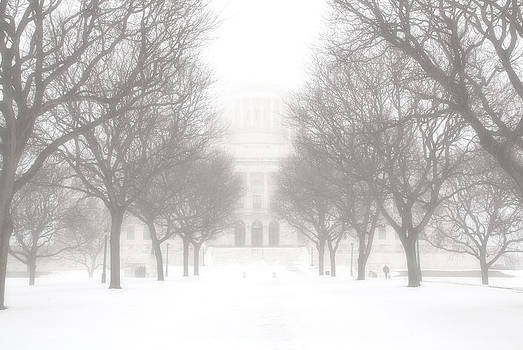 Foggy Day at the State House by Hali Sowle