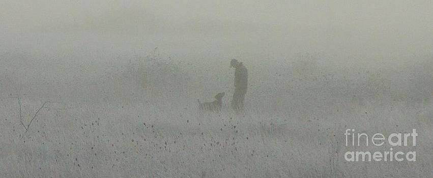 Foggy Dog walk by Michael Cross