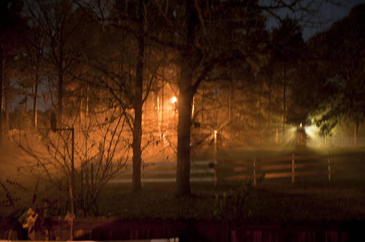 Foggy Fall Night by Bill Perry