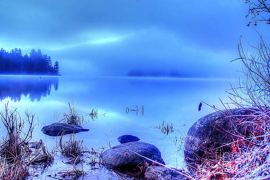 Foggy lake 8019 HDR by Chuck Smith
