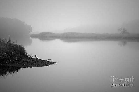 Dave Gordon - Foggy Morning Taunton River BW