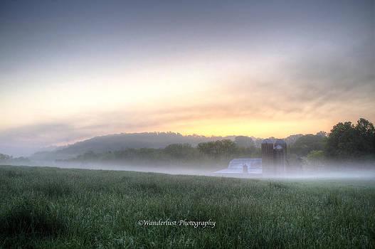 Foggy Morning on the Farm by Paul Herrmann