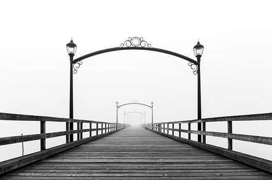 Foggy Pier by Chris Plante