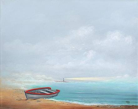 Foggy Shoreline by Anthony Fotia