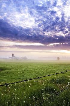 Foggy Sunrise over Indiana Field by Bailey and Huddleston