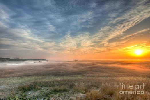 Dale Powell - Foggy Sunrise over the Marsh